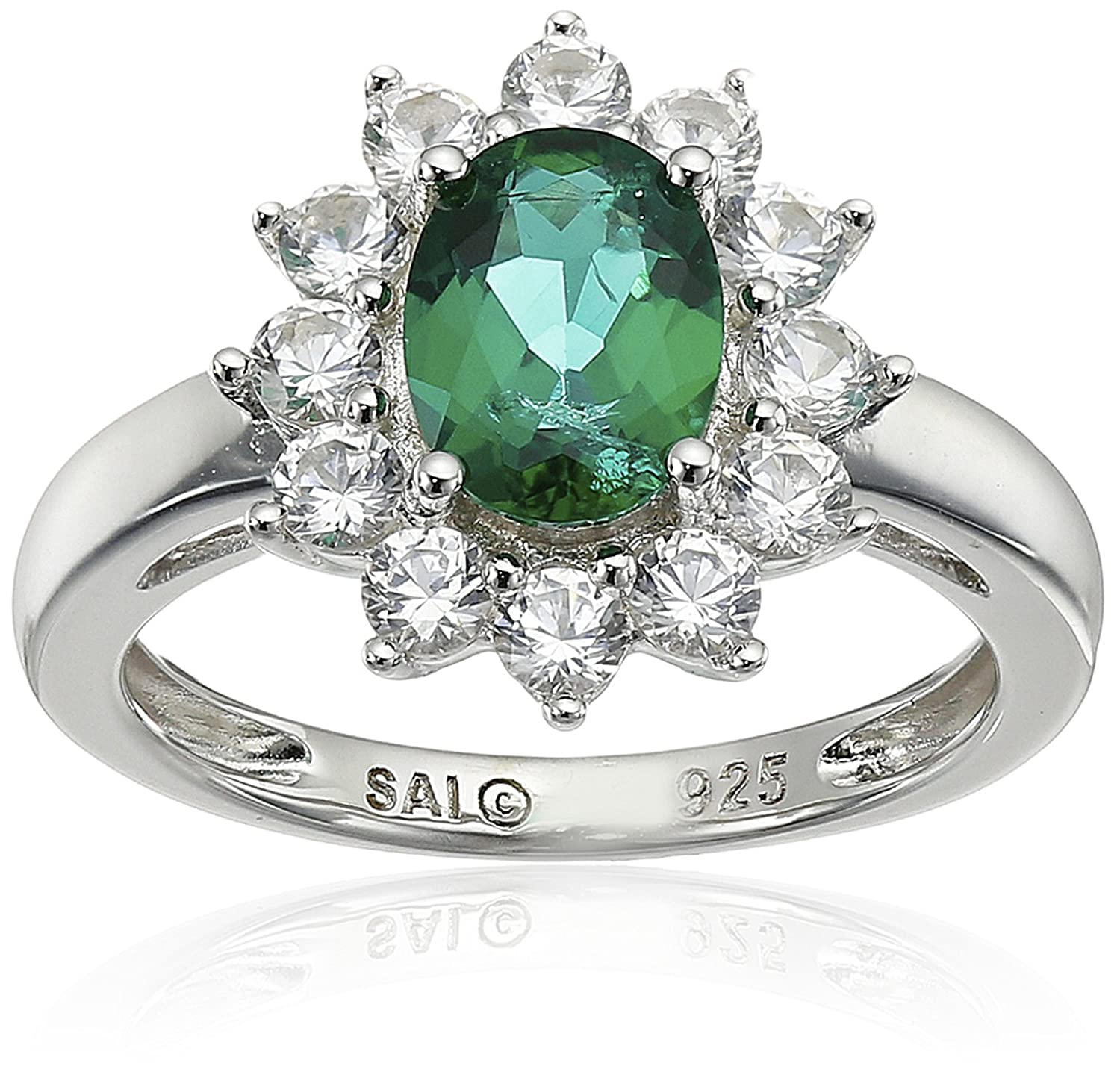 and emerald ring treated heat couture diamond gemme cabochon tanzanite may birthstone