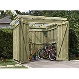 Gerätehaus Holz mit Flachdach Typ-1 Gartenhaus 254 x 206 cm von Gartenpirat®