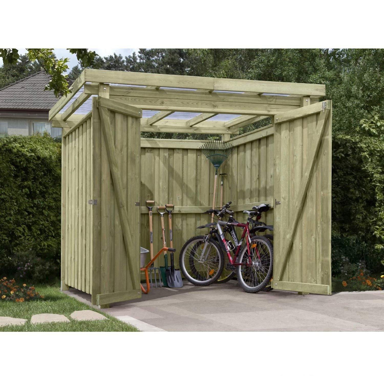#Fahrradbox Gartenpirat Typ-1 Flachdach#