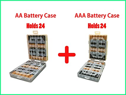 1 Of Each Nanfu AA And AAA Battery Case Holder Box Storage Organizer    Holds 24