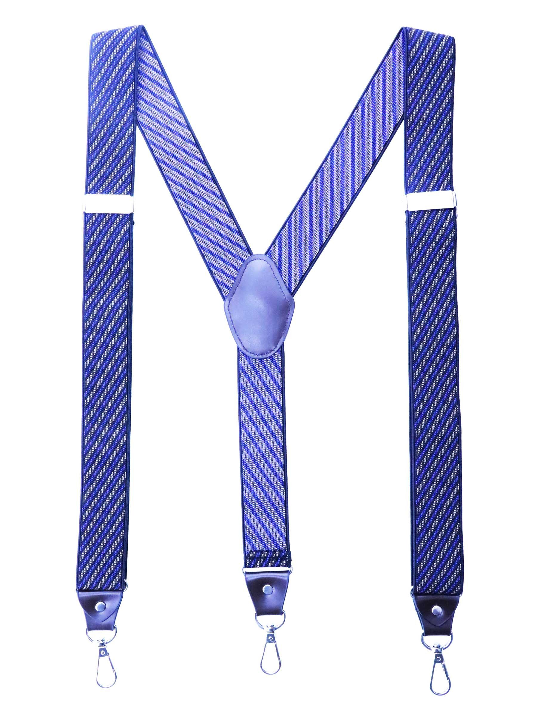 Romanlin Suspenders for Men with Hooks on Belt Loop Big and Tall Adjustable for Groomsmen Braces