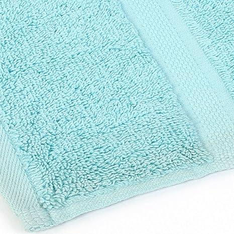 Amazon.com: eDealMax viaje Hotel Ducha de la Playa de secado de Pelo Baño Hoja de luz Azul toalla: Home & Kitchen