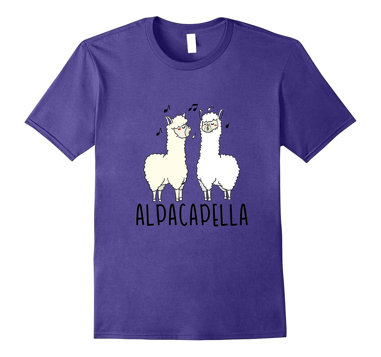 Alpacapella - Funny A Cappella Alpaca Singing Pun T-Shirt-FL