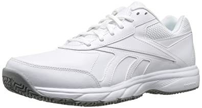 2eee68467e3 Reebok Men s Work N Cushion 2.0 Walking Shoe White Flat Grey 6.5 ...