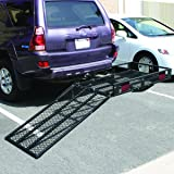Goplus Folding Wheelchair Carrier Heavy Duty Strong Hitch Cargo Carrier Mobility Scooter Loading Ramp, 500lbs Capacity
