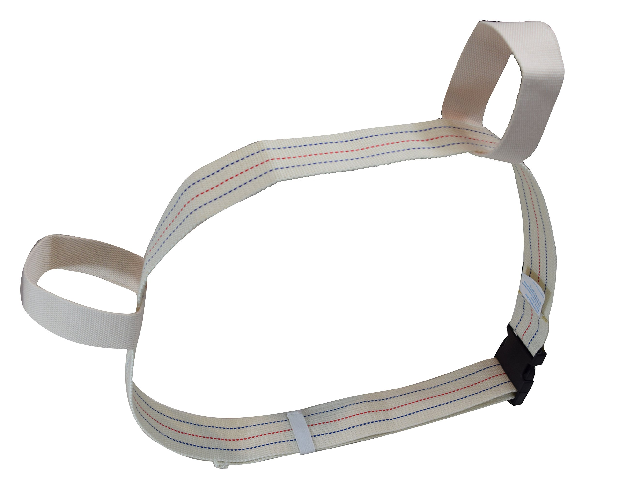 Versatile Gait Belt by LiftAid - Transfer Belt with Two Looped Handles (Fits up to 58 in.) (Beige-Plastic Buckle)