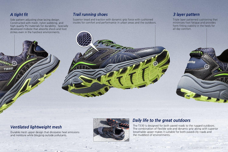 TSLA Mens Outdoor Sneakers Trail Running Shoe