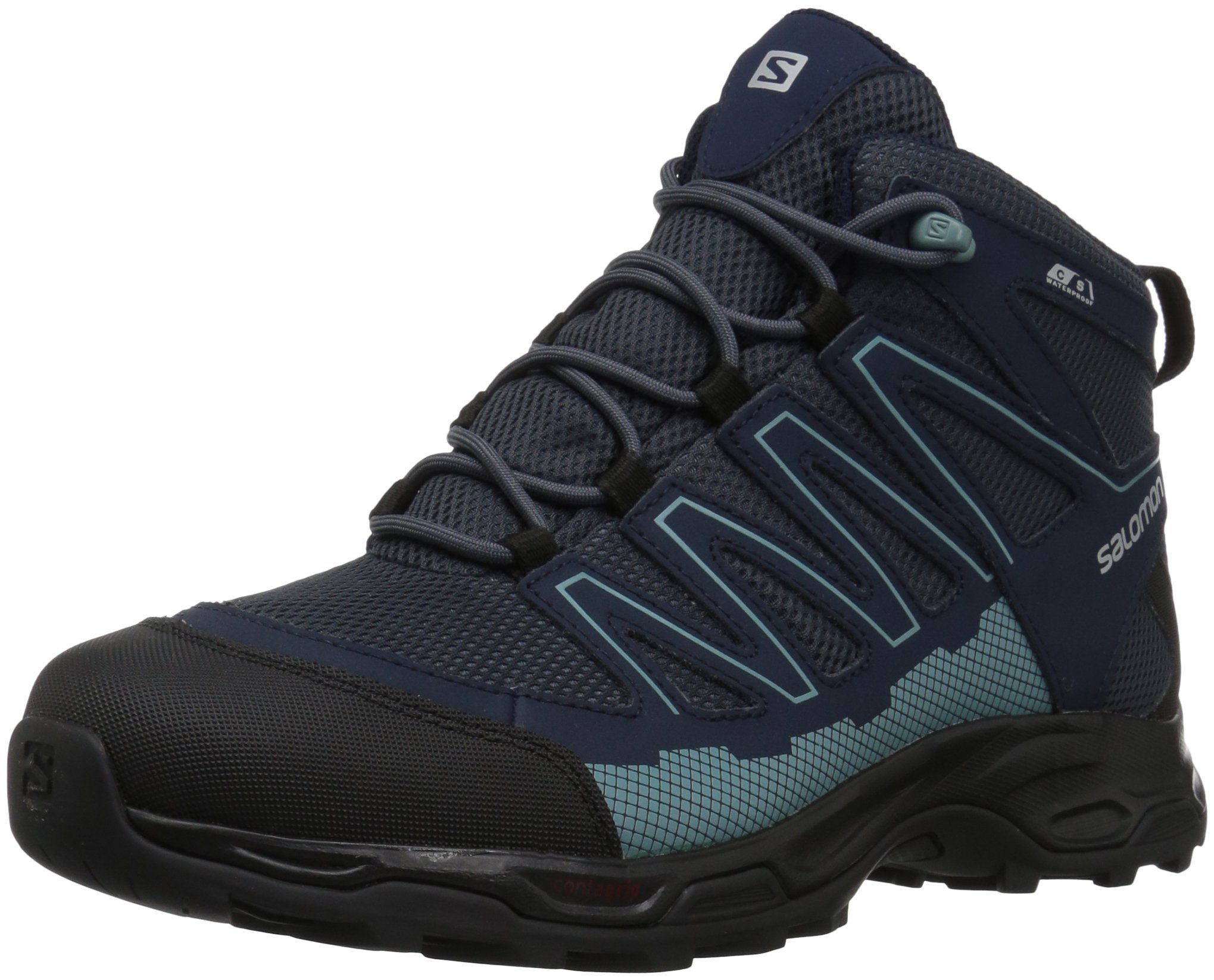 Salomon Women's Pathfinder CSWP Mid W Walking-Shoes, India Ink/Navy Blazer/Eggshell, 8 Medium US