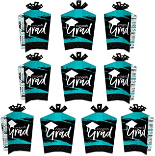 product image for Big Dot of Happiness Teal Grad - Best is Yet to Come - Table Decorations - 2021 Turquoise Graduation Party Fold and Flare Centerpieces - 10 Count