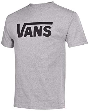 Vans Men's Classic Logo Skateboard Shirt-Athletic Grey/Black-Small