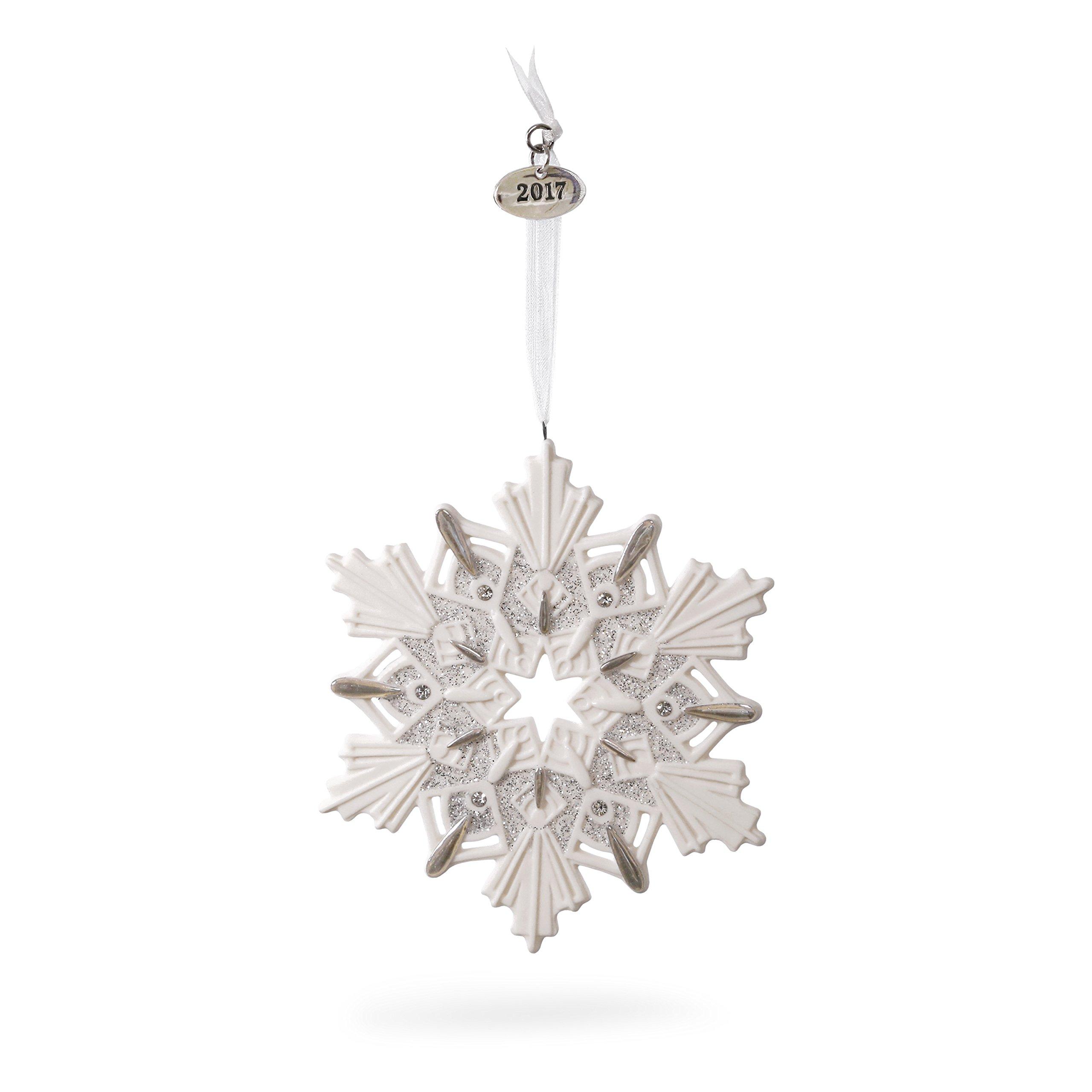 Hallmark Keepsake 2017 Snowflake Dated Porcelain Christmas Ornament