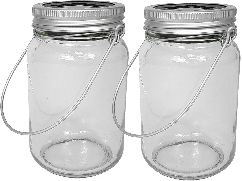 Spetebo - Lámparas hechas en tarros de cristal (2 unidades, luz ...