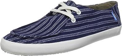 Amazon.com | Vans Surf Siders Rata Vulc Stripes Navy Mens Lace Up ...
