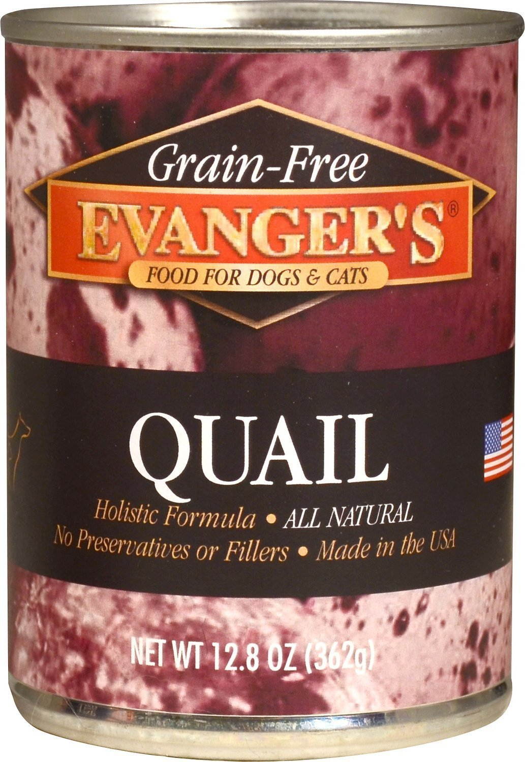 Evangers Grain-Free Quail Canned Dog Cat Food