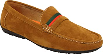 10a9cf78d9977 Belide Mens Moccasins Suede Look Driving Loafers Slip On Boat Shoes Ribbon  Tassle New