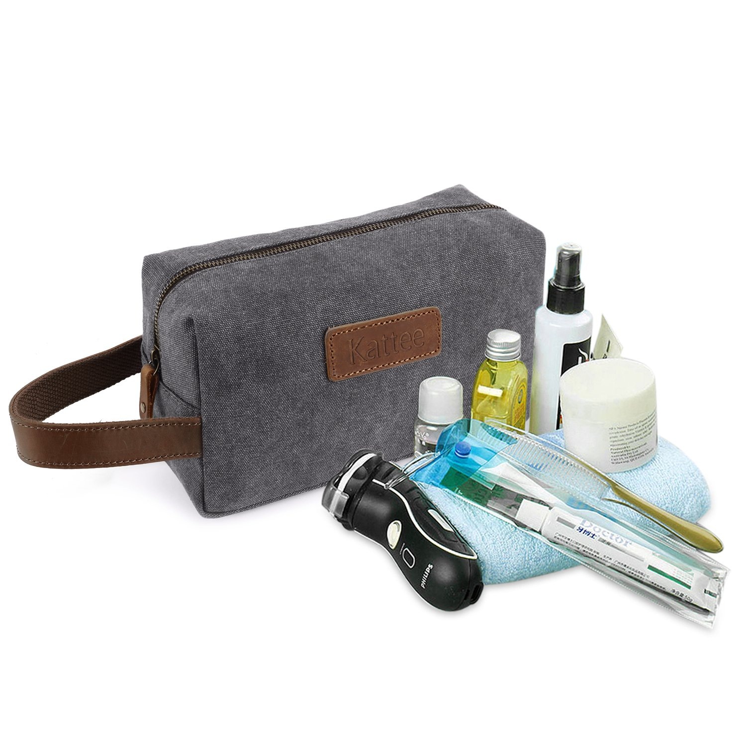 b6bd42877a05 Amazon.com   Kattee Mens Travel Toiletry Bag