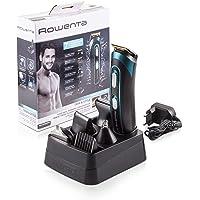 Rowenta TN9130 Trim & Style - Cortapelos para barba y cuerpo 7 en 1, accesorios de afeitado, nariz, oreja, patillas…