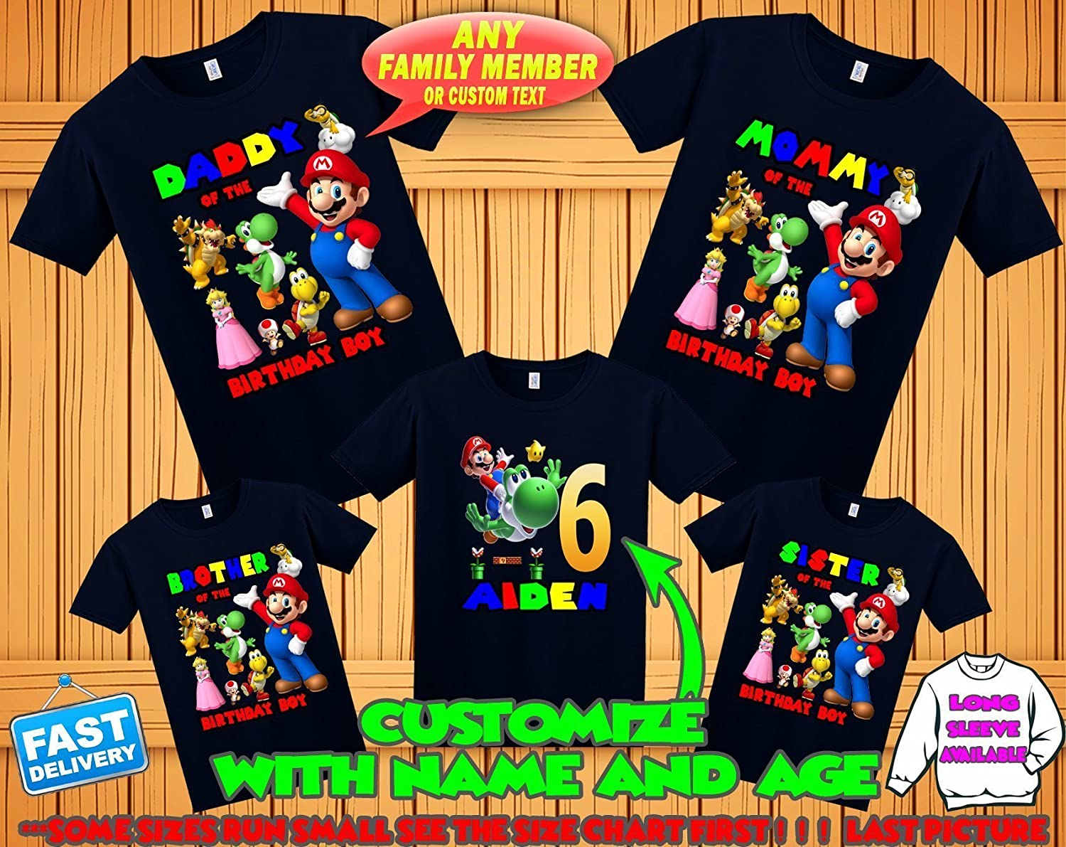 Super Mario birthday shirt, Super Mario family shirts, Super Mario theme party shirts, Super Mario matching shirts, Super Mario tshirt