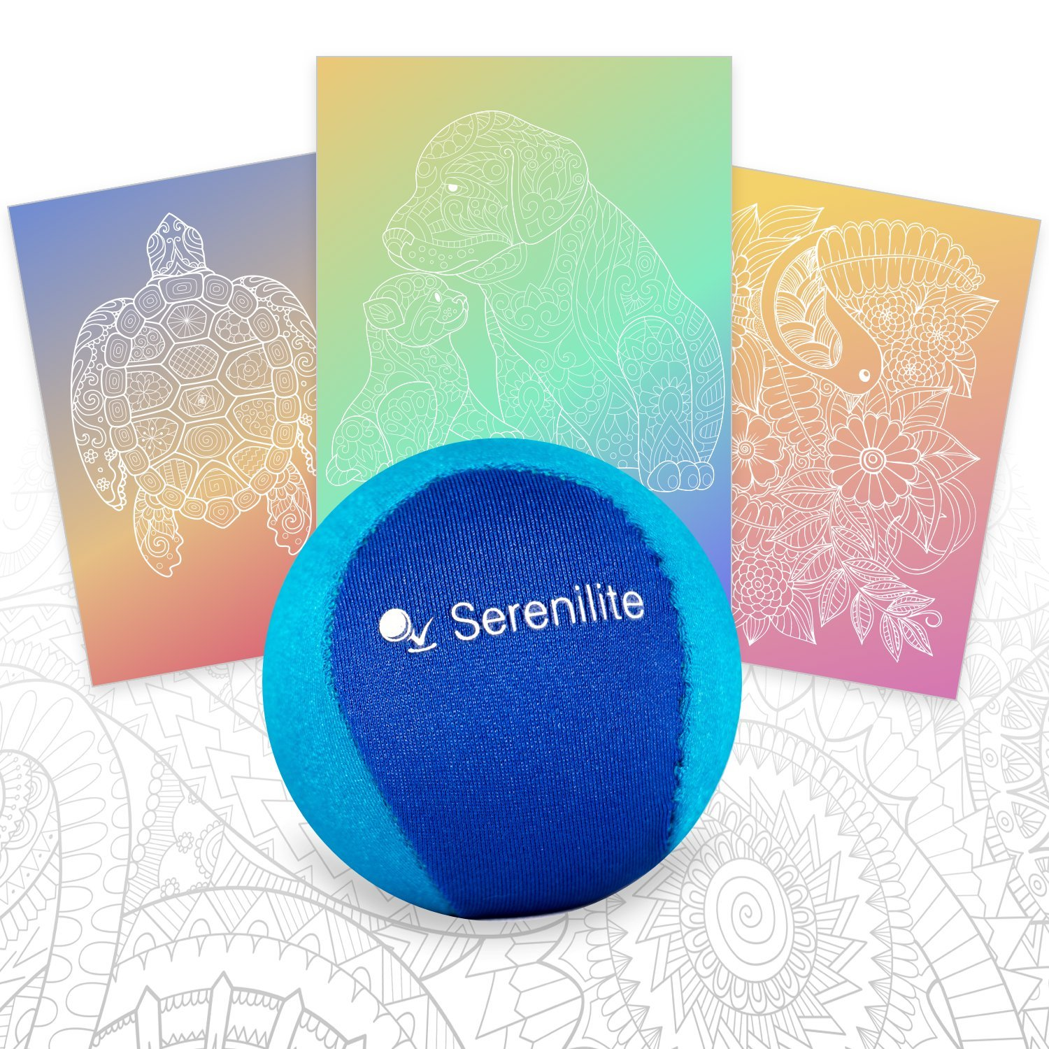 Serenilite Stress Ball & Hand Therapy Gel Squeeze Ball - Great for Hand Exercises and Strengthening - Optimal Stress Relief - Dual Color (Ocean Breeze) by Serenilite (Image #2)