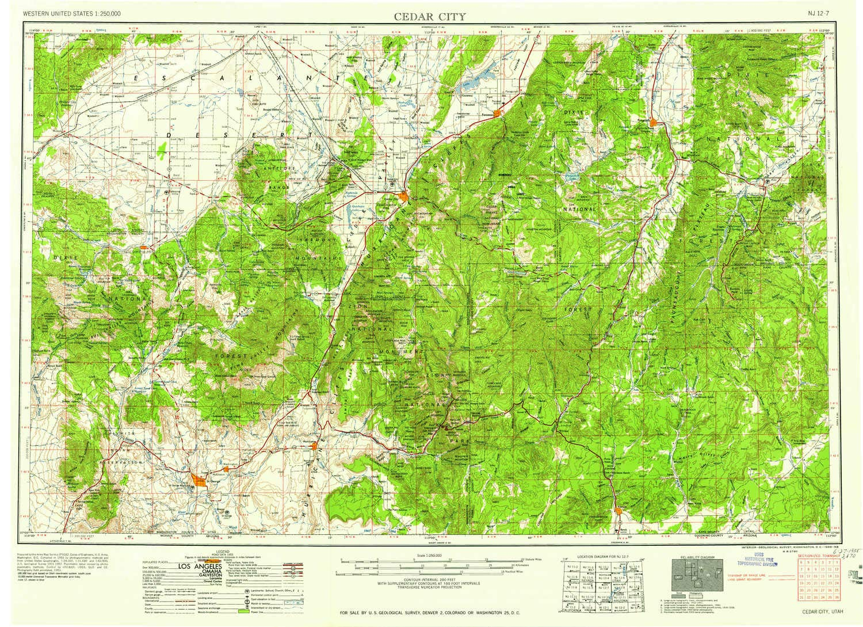 Amazon.com : YellowMaps Cedar City UT topo map, 1:250000 ...
