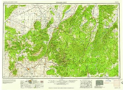 Amazon.com : YellowMaps Cedar City UT topo map, 1:250000 Scale, 1 X on