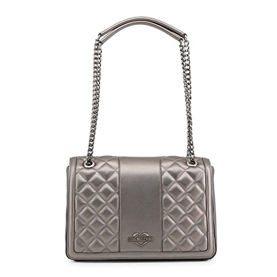 Love Moschino Metallic Superquilted Shoulder Bag metallic silver   Amazon.co.uk  Clothing 90ee591325e