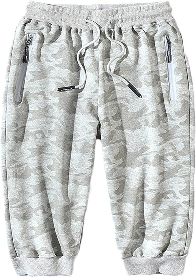 LEOCLOTHO Pantalones Cortos para Hombres Bermudas de Camouflage ...