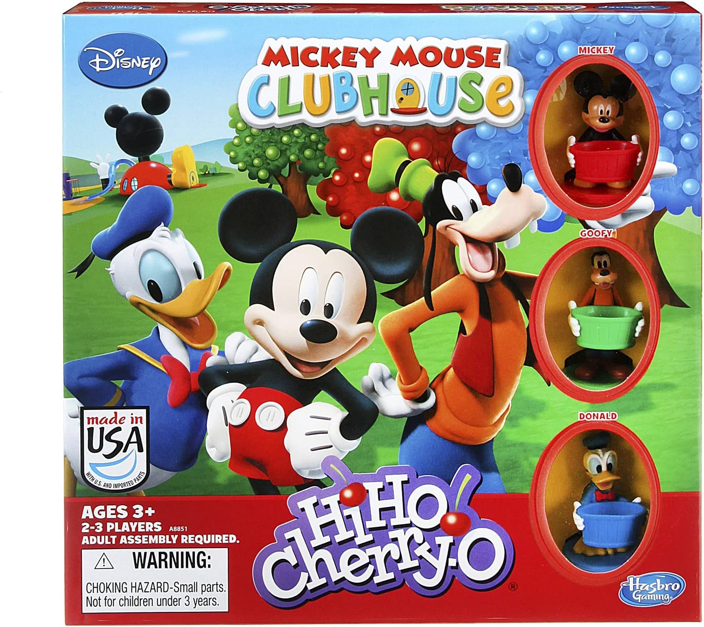 Hasbro HiHo! Cherry-O Game Disney Mickey Mouse Clubhouse Edition