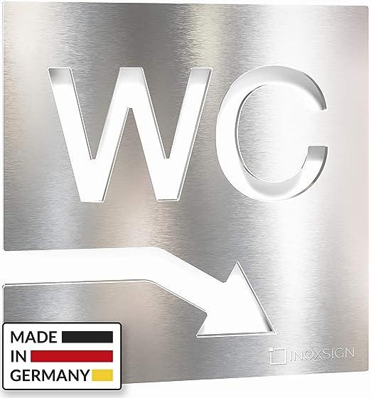 Letrero para WC - señalización autoadhesiva de acero ...