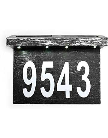 7aeda017772 ZUOZUOYA Solar House Numbers Light - Stainless Steel Address Sign for House  or Yard - 4