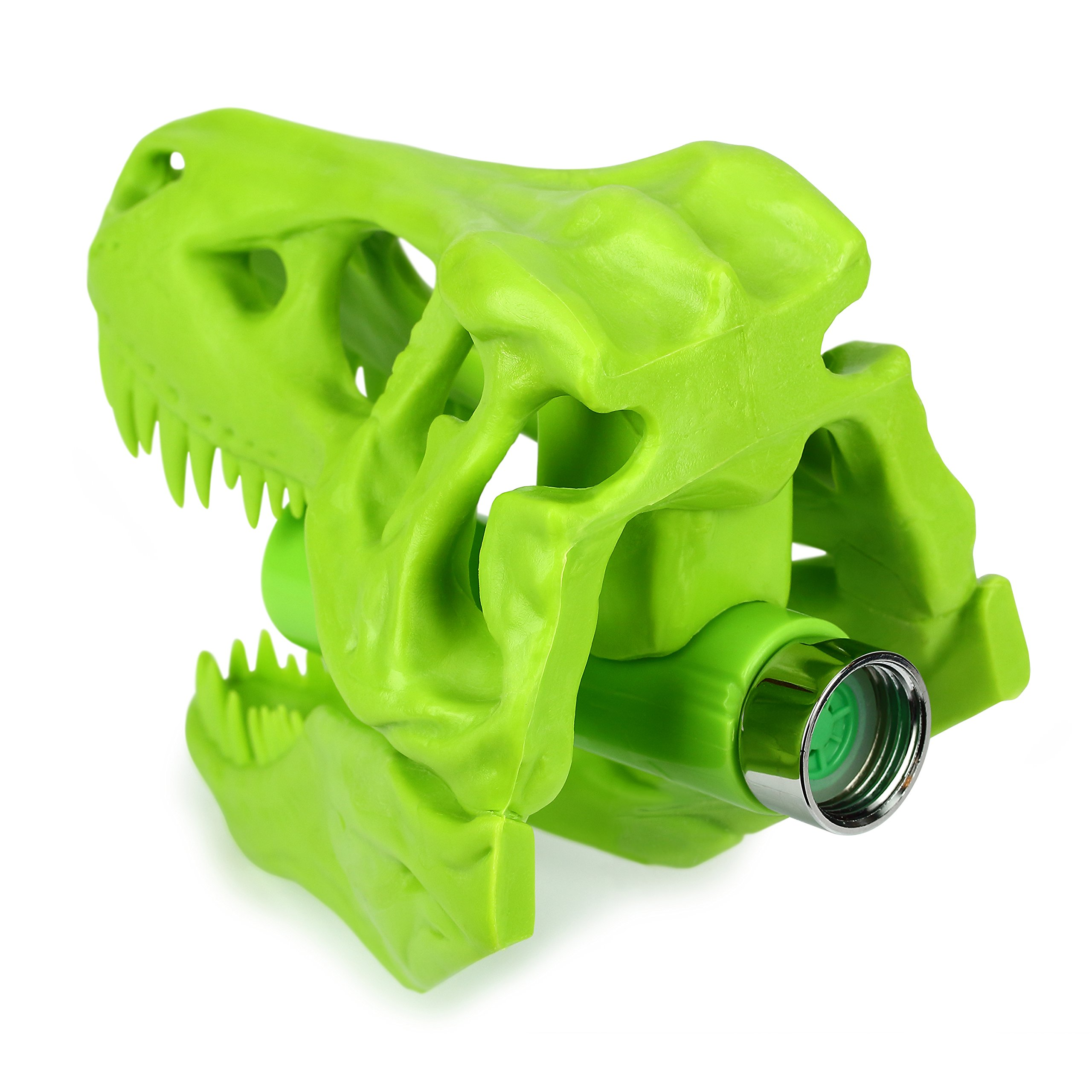 Barbuzzo T-Rex Shower Head, Green - Prehistoric Shower Nozzle Shaped like a Tyrannosaurus Rex Skull - Gives Your Shower-Time a Jurassic Touch - Terrific Gift for Kids & Dino-Enthusiasts - Wash N' Roar by Barbuzzo (Image #5)