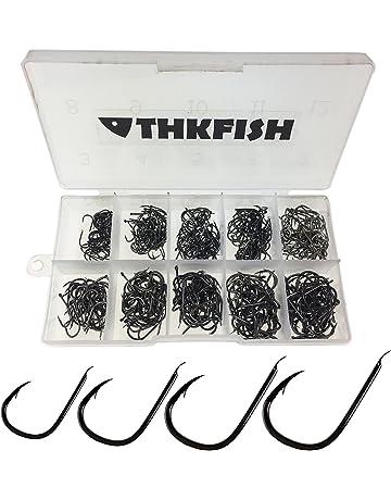 500 piezas en Caja Mezclado 10 Tamaños ningún ojo sin ojos carbono dorado Pesca negro Anzuelo