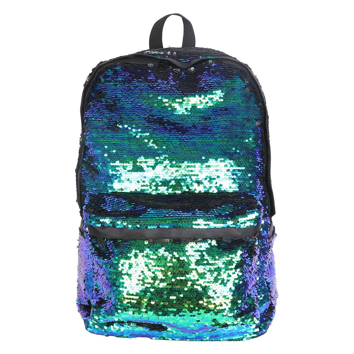 Amazon.com | Freebily Girls Sequins Backpack Glitter Bling Rucksack Women Sparkle Casual Daypack School Travel Shoulder Bag Green One Size | Kids Backpacks