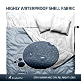 MalloMe Double Camping Sleeping Bag - 3 Season Warm & Cool Weather - Summer, Spring, Fall, Lightweight, Waterproof For Adults & Kids - Camping Gear Equipment, Traveling, and Outdoors - 2 Free