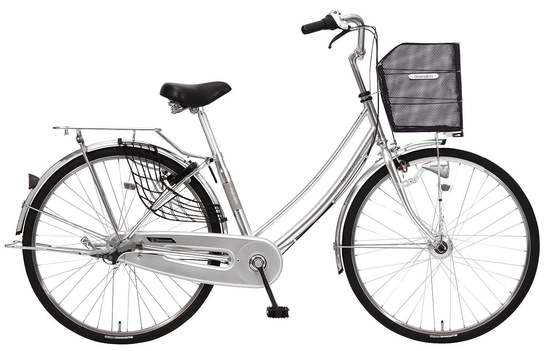 marukin(マルキン) 自転車 26型 トラフィックホーム 内装3段 B01CJQX7L6 シルバー シルバー