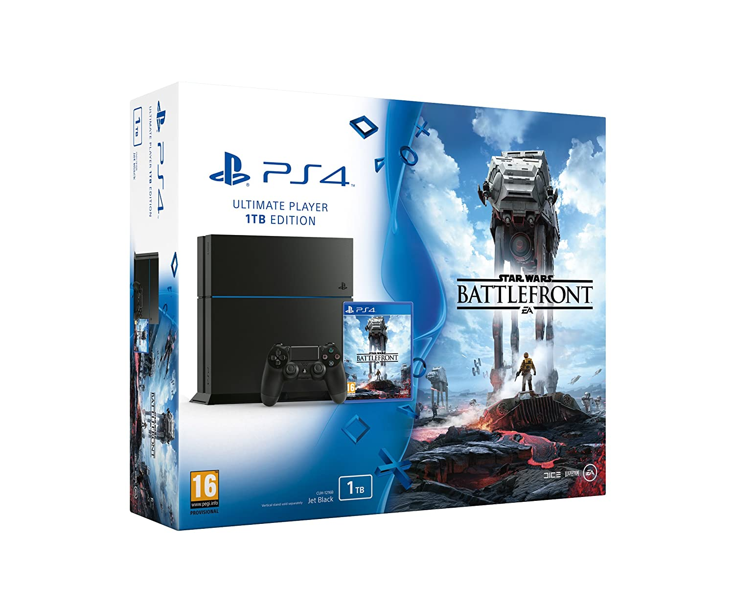Sony Playstation 4 1Tb With Star Wars Battlefront [Importación Inglesa]: Amazon.es: Videojuegos