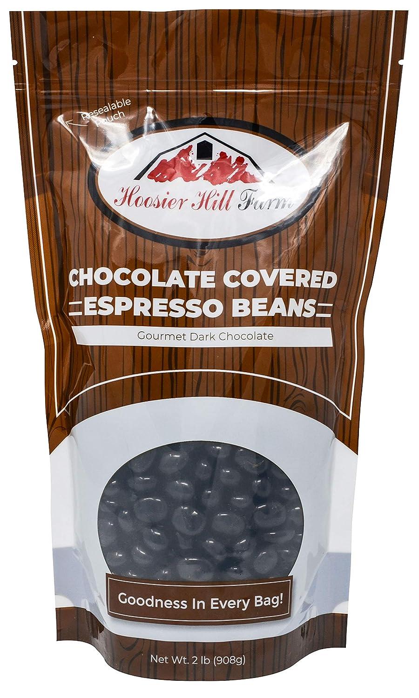 Hill Farm Gourmet Dark Chocolate covered Espresso Beans (2 lb Bag), 32 Ounce
