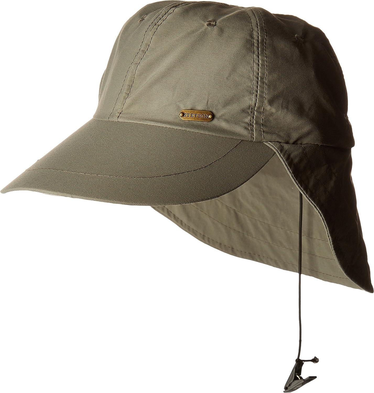 2d3f9e813c50b Stetson Men s No Fly Zone Flap Cap Willow LG XL at Amazon Men s Clothing  store