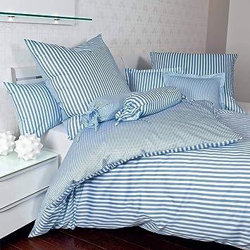 Janine Design Streifen Bettwäsche Modern Classic Hellblau