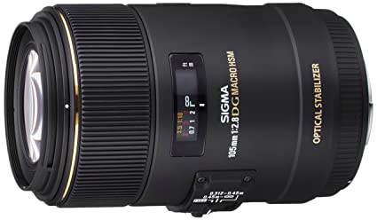 Sigma 105mm F2 8 EX DG OS HSM Macro Lens for Sigma SLR Camera