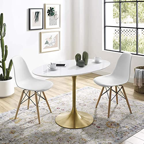 Modway Lippa 48″ Oval-Shaped Mid-Century Modern Dining Table