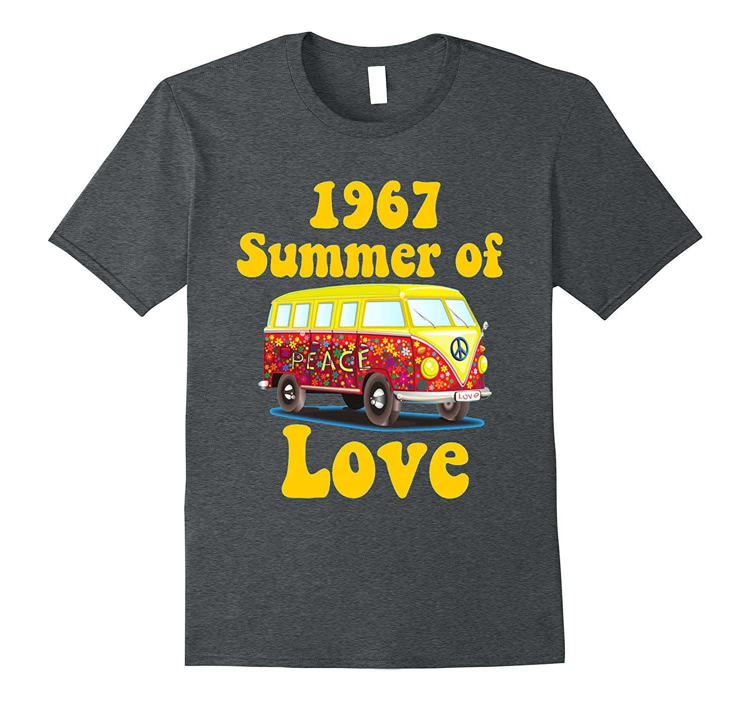 2b327ae59dc 1967 Summer of Love Retro Tees Vintage Sixties Hippie Shirt-RT