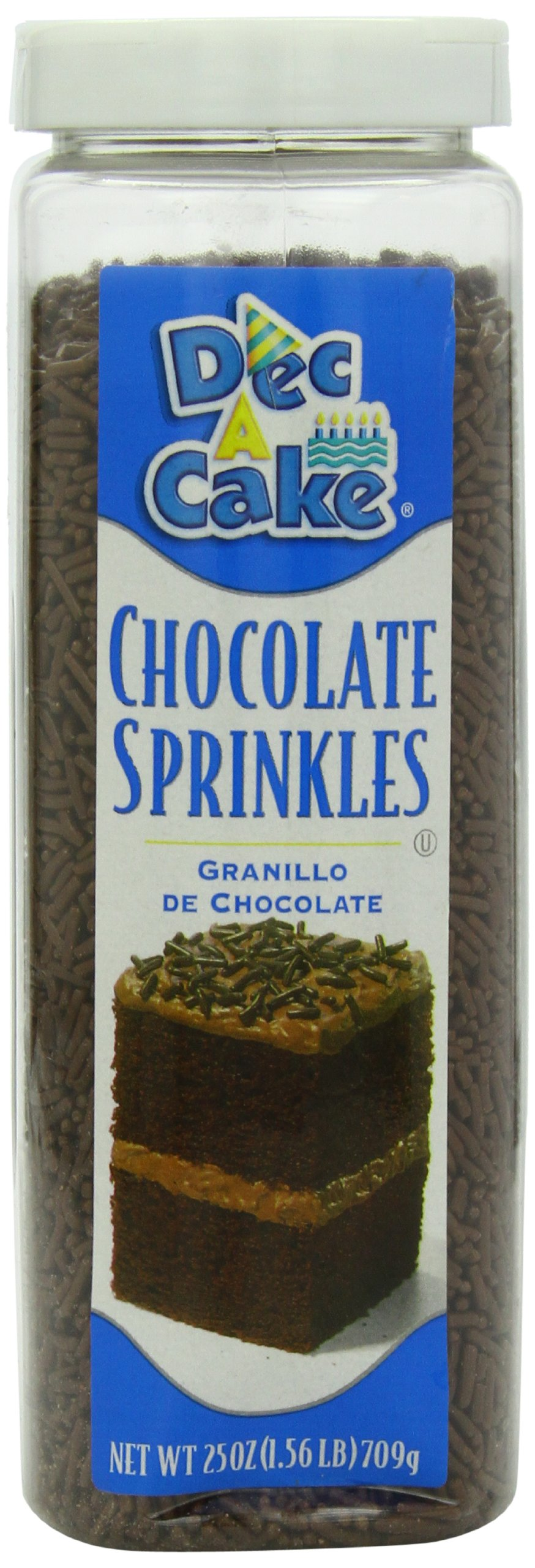 Durkee Decacake Chocolate Sprinkles, 25-Ounce (Pack of 6)
