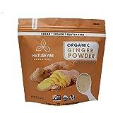 Naturevibe Botanicals Premium Organic Ginger Root Powder (1lb), Zingiber officinale Roscoe | Non-GMO verified and Gluten Free…