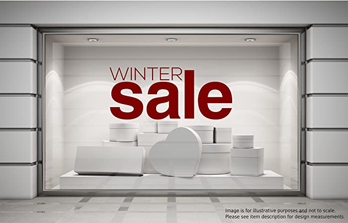 Winter sale shop window sticker retail display store front vinyl decal graphic