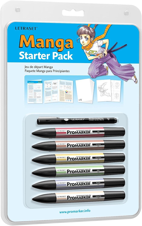 Letraset - Pack para principiantes en manga de ProMarkers, 6 ...