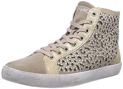 CAFèNOIR Sneaker, Baskets hautes femme - Blanc - Elfenbein (271 OFF WHITE), Taille 40 EU