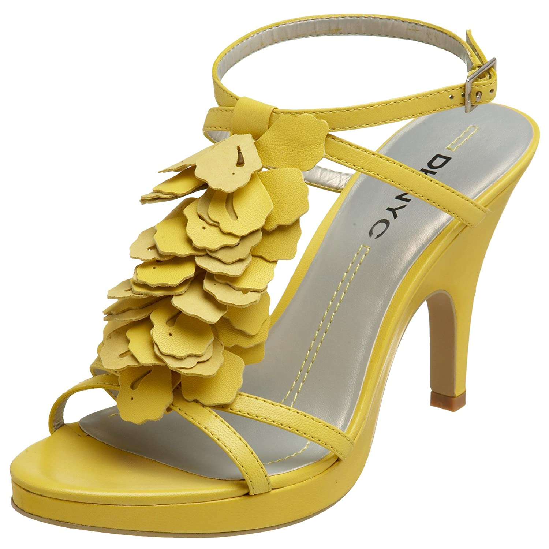 White DKNY Jade Peep Toe Heels, White