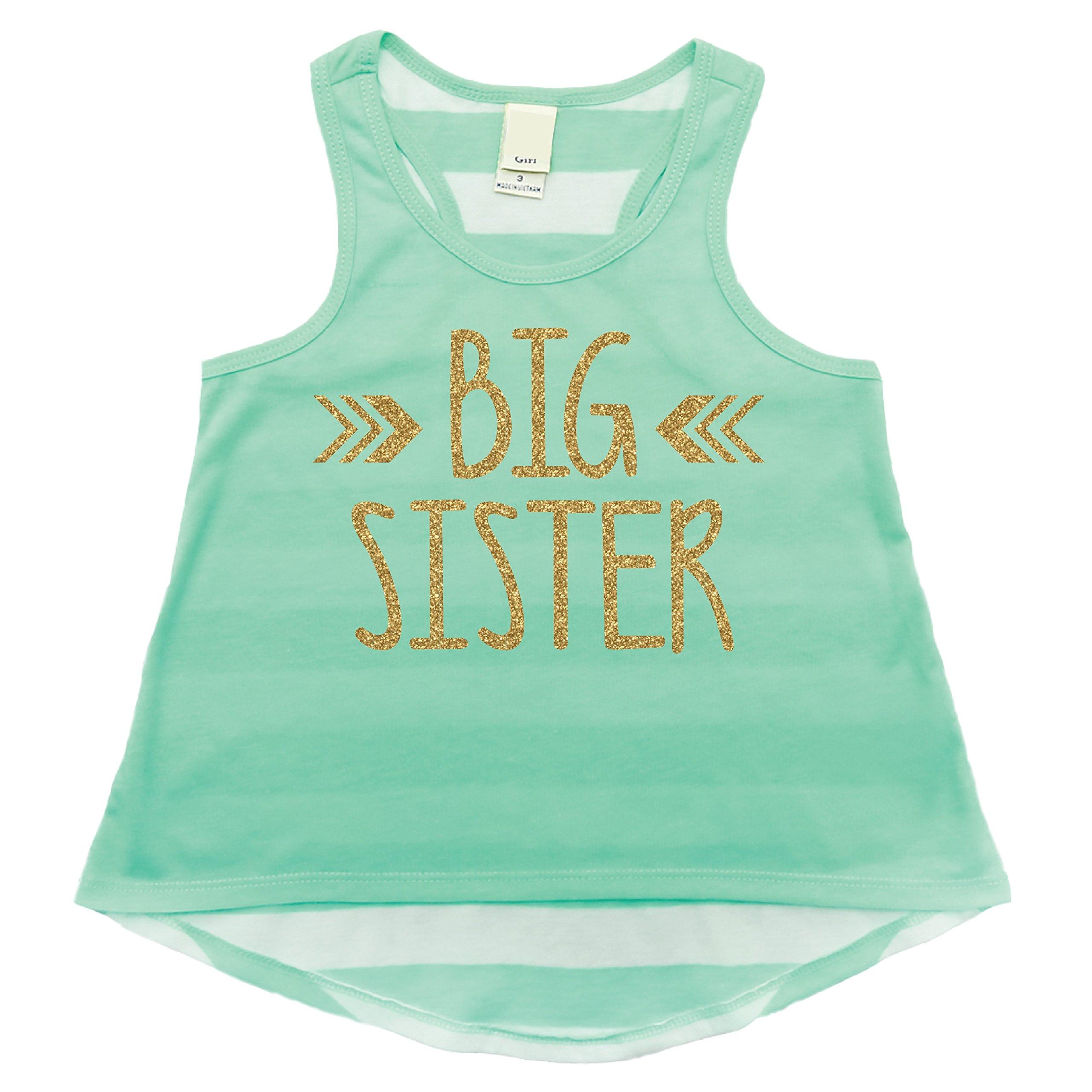 Big Sister Shirt, Trendy Girl Clothes, Big Sister Tank Top (4T)