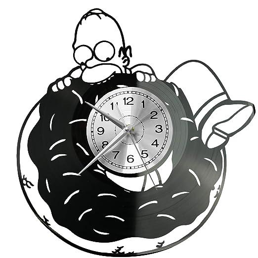 WoD The Simpsons - Reloj de Pared de Vinilo, diseño Retro ...
